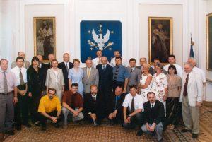 Zakończenie I. edycji Programu Stypendialnego im. Lane'a Kirklanda, lipiec 2000
