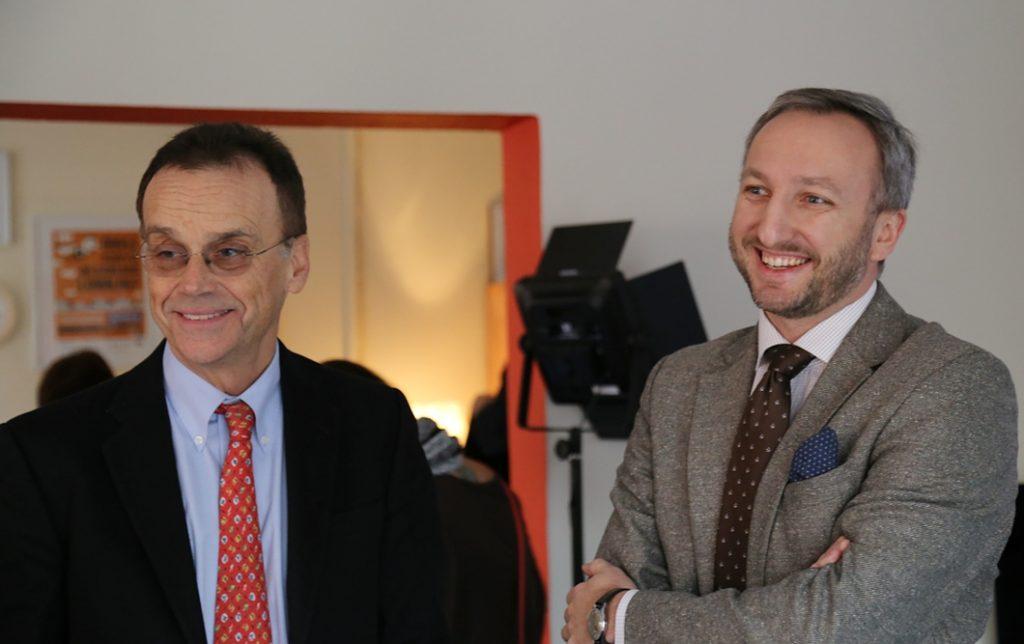 Andrew Nagorski z wizytą u uczestników programów Fundacji