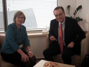 Prof. Jolanta Zujecka-Zając i Andrew Nagorski