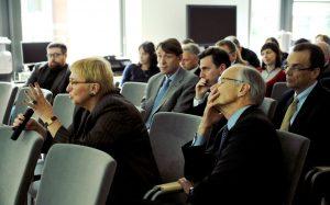 Prof. Anna Fornalczyk, David Niemiec, Ambasador Lee Feinstein, Joseph C. Bell, Andrew Nagorski
