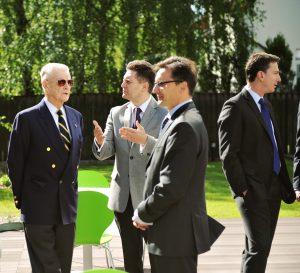 Prof. Zbigniew Brzeziński, Radosław Jasiński, Grzegorz Jędrys, Ambasador Lee Feinstein