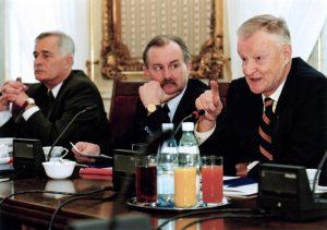 Prof. Piotr Węgleński, Jan Malicki, Prof. Zbigniew Brzeziński