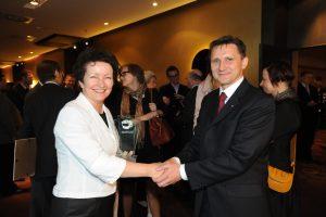 Barbara Margol z Nidzickiego Funduszu Lokalnego i Grzegorz Jędrys, Dyrektor Przedstawicielstwa PAFW w Polsce