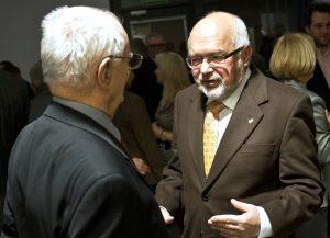 Profesor Jerzy Dietl i Rektor Krzysztof Pawłowski