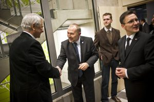 Minister Jacek Michałowski, Tomasz Lechowski - architekt projektu, Grzegorz Jędrys, Rafał Kramza