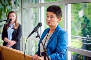 Katarzyna Czayka-Chełmińska, Prezes Fundacji Szkoła Liderów, spotkanie uczestników International Visitor Leadership Program