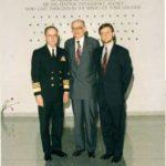 Minister Władysław Bartoszewski, ambasador Jerzy Koźmiński – siedziba CIA, Langley, 1995