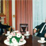 Prezydent Lech Wałęsa, ambasador Jerzy Koźmiński – Belweder, Warszawa, 1994