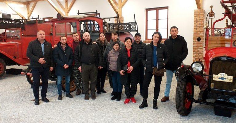 Gruzińscy strażacy poznają doświadczenia polskich OSP