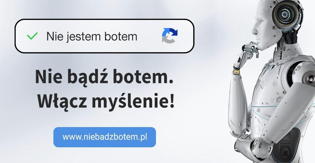 """""""Nie bądź botem. Włącz myślenie!"""" kampania Stowarzyszenia Demagog"""